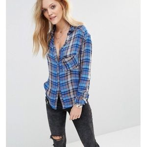 Free People Joplin Plaid Shirt